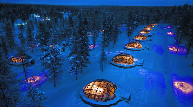 Необычные отели Северное сияние
